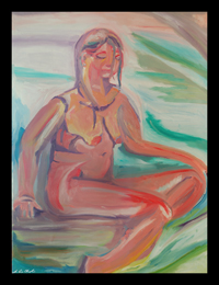 peace maine nude figurative portrait by d loren champlin