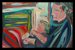 song of the sleeper maine art figurative portrait father and child by d loren champlin